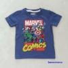Marvel : เสื้อยืดแขนสั้น Marvel Comics สีน้ำเงิน size 2-4y