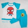 Carter's : เสื้อ+กางเกง ลาย Spider baby สีฟ้า Size : 5T / 6T / 7T / 8T