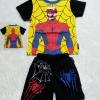 MARVEL : set เสื้อสีเหลือง + กางเกง spider man มีไฟ
