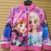 Disney : เสื้อแจ็คเก็ทมีฮูด พิมพ์ลายเจ้าหญิงแอนนา เอลซ่า สีชมพู (ลิขสิทธิ์ไทย) size : 4 (4-5y) / 8 (8-9y)