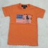 POLO : เสื้อยืดลายธงชาติ สีส้ม size : 2-4y