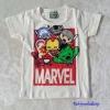 เสื้อ Marvel สีขาว (ตัว Iron man นูนขึ้นมา ) size : 90 / 120