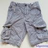 Gap kids : กางเกงขาสั้น cargo ลายทางสีน้ำเงิน Size : 14 (12-14y)