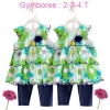Gymboree : ชุดเสื้อทรงเดรสระบายชั้นๆ พร้อมเลกกิ้งสียีนส์ Size 2T / 4T