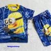 ME : Set เสื้อ Minion + กางเกง ผ้ามันลื่น