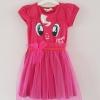 H&M : เดรสสกรีนลายหน้าม้าโพนี่ สีชมพูเข้ม size : 8-10y / 10-12y