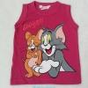 H&M : เสื้อกล้าม Tom&Jerry สีชมพูเข้ม size : 8-10y