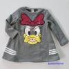 ชุดเดรส Donald Duck สีเทา ด้านในเป็นขน เนื้อผ้าหนาใส่อุ่นๆ ค่ะ size : 7 (3y ) / 11 (5y) / 13 (6y)