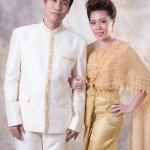 เช่าชุดไทย &#x2665 ชุดไทยเจ้าสาว พิกุล - สีทอง