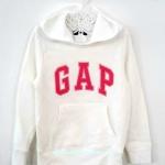 GAP : กันหนาว GAP สวม มีฮูด สีขาว size L ( 8-10y)