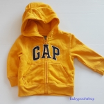 Gap : แจ็คเก็ท กันหนาวมีฮูด ซิปหน้า สีเหลือง Size : 18-24m