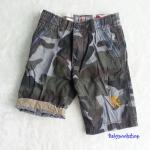 Express : กางเกงขาสั้น ลายพรางสีเทา-ฟ้า size : 6 / 10 / 16