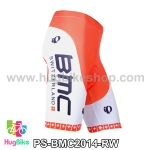 กางเกงจักรยานขาสั้นทีม BMC 14 สีแดงขาว สั่งจอง (Pre-order)
