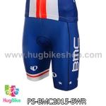 กางเกงจักรยานขาสั้นทีม BMC 15 สีน้ำเงินขาวแดง สั่งจอง (Pre-order)