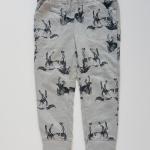 Oldnavy : กางเกงขายาวขาจั๊ม ลายม้า สีเทา size: 2T / 3T / 5T