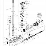 impeller สำหรับเครื่องยนต์ 40 แรงม้า 2 จังหวะ