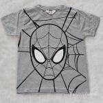 H&M เสื้อยืด spiderman สีเทา size : 2-4y / 8-10y