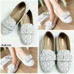 รองเท้าคัทชูแฟชั่นเกาหลี สไตล์ miu miu