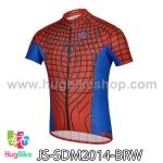 เสื้อจักรยานแขนสั้น ฺSpiderman 2014 สีน้ำเงินแดง สั่งจอง (Pre-order)