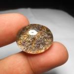 แก้วปวกสุวรรณสาม ม่วง เขียว ทอง น้ำใส สวยงาม ขนาด2.4 x 1.8cm