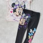 Set เสื้อ กางเกง minnie ชมพูอ่อน size : 2-4y / 6-8y / 10-12y