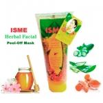 Isme Herbal Facial Peel-Off Mask Hoyney&Curuma Formula อิสมี เจลลอกหน้าสมุนไพร สูตรน้ำผื้ง ขมิ้นไพล 100 กรัม