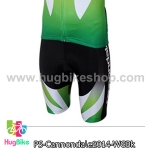 กางเกงจักรยานขาสั้นทีม Cannondale 14 สีดำขาวเขียว สั่งจอง (Pre-order)