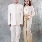 เช่าชุดแต่งงาน &#x2665 ชุดไทยเจ้าสาว ไทยบรมพิมาน - สีงาช้าง