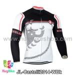 เสื้อจักรยานแขนยาวทีม Castelli 14 สีขาวดำลาย สั่งจอง (Pre-order)