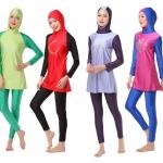 6 แบบลายเก๋สีกู๊ด ชุดว่ายน้ำมุสลิม ผ้ายืดอย่างดี มีทุกไซส์ ส่งฟรี
