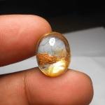 แก้วสามกษัตริย์ขนเหล็ก+ปวกทอง+กาบทอง น้ำใสสะอาด ขนาด 1.8 x 1.4 cm