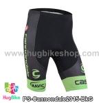 กางเกงจักรยานขาสั้นทีม Cannondale 15 สีดำเขียว สั่งจอง (Pre-order)