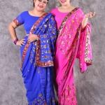 เช่าชุดแฟนซี &#x2665 ชุดแฟนซี ชุดอินเดีย ชุดแขก ส่าหรี สีน้ำเงินและสีชมพูบานเย็น
