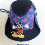 หมวก ทรง คาวบอย ลาย มิกกี้เมาส์ สีน้ำเงิน