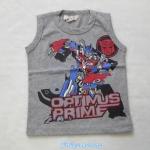 H&M : เสื้อกล้าม ลาย Optimus Prime สีเทา size 1-2y