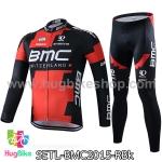 ชุดจักรยานแขนยาวทีม BMC 15 (01) สีแดงดำ สั่งจอง (Pre-order)