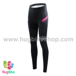 กางเกงจักรยานผู้หญิงขายาว CheJi 15 (07) สีดำแถบชมพู