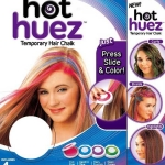 hot huez Temporary Hair Chalk (ชุดไฮไลท์ผมหลากสไตล์ 4 สี )