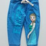 กางเกงขาจั๊ม สกรีนลาย FROZEN สีฟ้า ด้านในผ้าเกล็ดปลา
