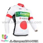 เสื้อจักรยานแขนยาวทีม Europcar 14 สีขาวเขียวแดง สั่งจอง (Pre-order)