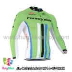 เสื้อจักรยานแขนยาวทีม Cannondale 14 เขียวขาวดำฟ้า สั่งจอง (Pre-order)
