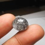 แก้วขนเหล็ก เส้นแกร่ง สวย น้ำใสสวย ขนาด1.6 x 1.4 cm ทำหัวแหวน จี้