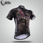 เสื้อจักรยานแขนสั้น Cyclingbox สี่สัตว์เทพ สีดำแดงลายงู สั่งจอง (Pre-order)