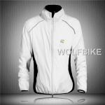 เสื้อคลุมจักรยานแขนยาว Le tour de france สีขาว
