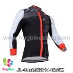 เสื้อจักรยานแขนยาวทีม Castelli 14 สีดำเทาขาว สั่งจอง (Pre-order)
