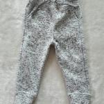 Tu : กางเกงขายาวขาจั๊ม สีเทาขาว ข้างในผ้าสำลี size 1-2y