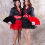 เช่าชุดแฟนซี &#x2665 ชุดแฟนซี กิโมโน กระโปรงฟู - สีดำ, สีแดง สำเนา