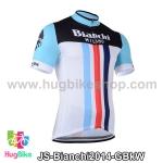 เสื้อจักรยานแขนสั้นทีม Bianchi 2014 สีเขียวดำขาว สั่งจอง (Pre-order)