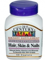 21st Century, Hair, Skin & Nails, Advanced Formula, 50 Caplets