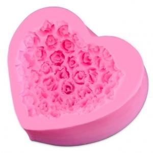 พิมพ์ขนม หัวใจดอกกุหลาบ B199